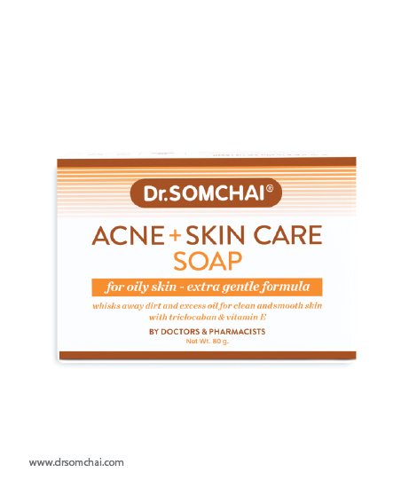 Acne & Cleansing Cream Soap for Normal to Oily Skin | ดร.สมชาย